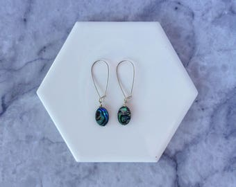 Aurora drop pearl earrings