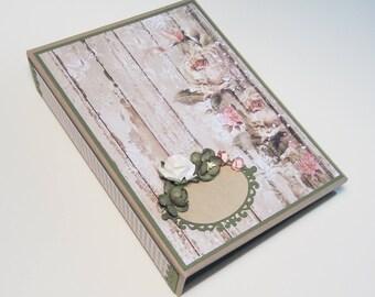 Personalized Wedding photo album Shabby Chic Wedding album Wedding memory book Wedding gift Scrapbook Honeymoon album gift Family Keepsake