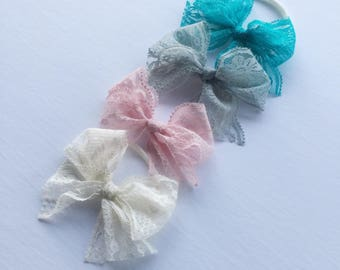 Fluffy lace bows | pastel lace bows | SS17 collection