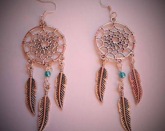 Earrings turquoise Dreamcatcher