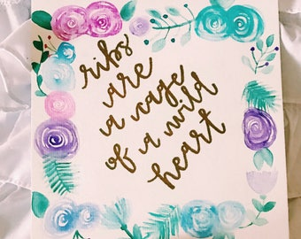 Custom / Lyric / Quote / Verse / Watercolor Painting