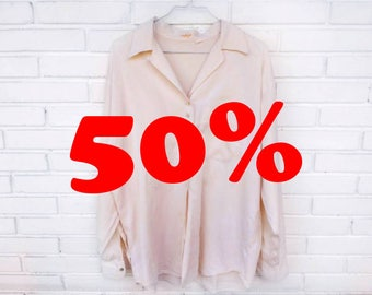 SHIRT PALE PINK / / long shirt pink stick / / vintage clothing / / gift for woman