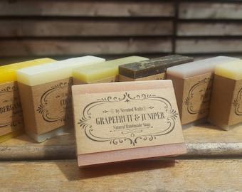 Soap Sampler Set, All Natural soap, Handmade soap, Cold Process soap, essential oil soap, vegan soap, guest soap, mini soap, travel soap