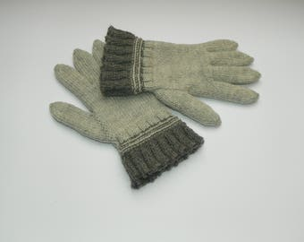 Knit gloves Wool gloves Alpaca gloves Warm gloves Knitted gloves Hand knit gloves Women's gloves Gray gloves Gift for her Winter gloves