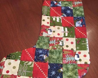 Handmade Quilted  Christmas Stocking