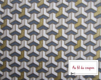 "Fabric 100% cotton ""FACETED gold"" by 150 cm (width)"