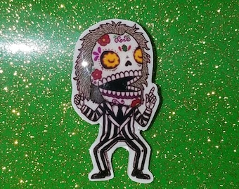 Beetlejuice Sugar Skull PIN