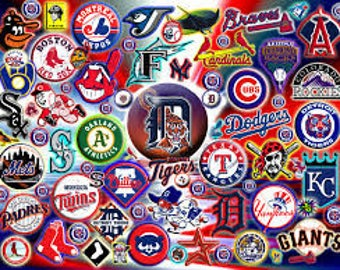 Precut Baseball Team Logos- Tell us the TEAM or TEAMS you want - Edible images for cakes, cupcakes and cookies