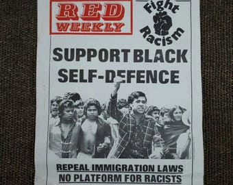 Red Weekly Fight Racism Poster