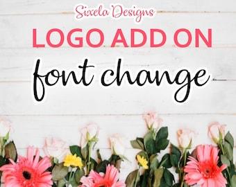 Font Change - Logo Add on