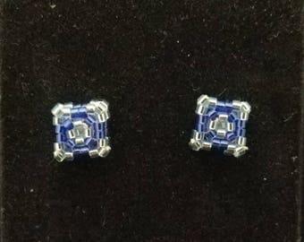 Handmade Beaded Stud Earrings