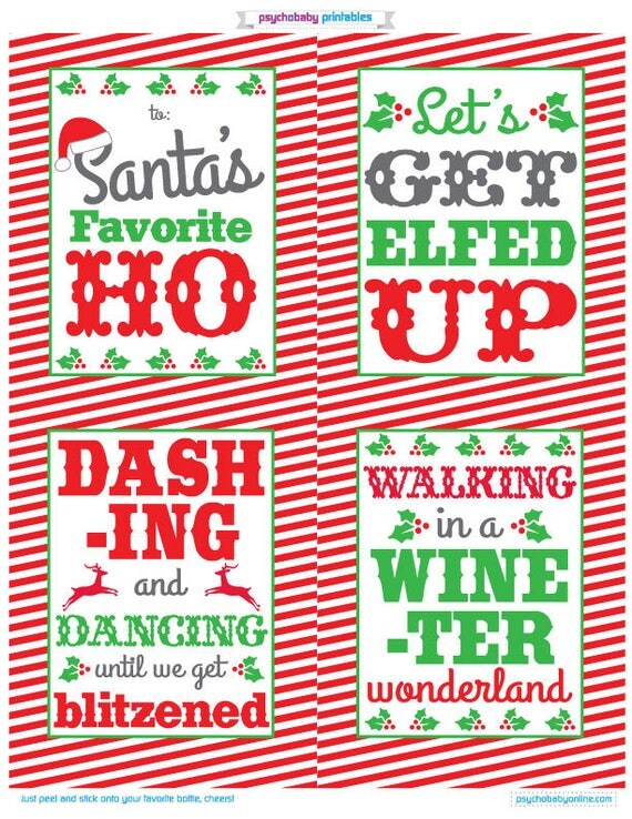 Snap Personalized Wine Labels Christmas Wine Labels Funny Wine