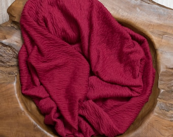 Maroon/Red/Burgandy newborn photography wrap. Textured wrap. Stretch wrap. newborn photography prop