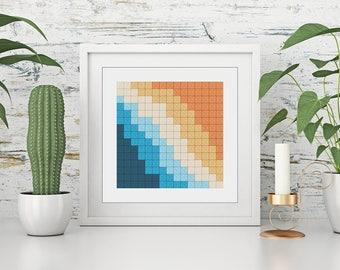 Digital print, framed, art, geometric modern