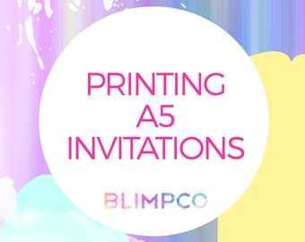 Printing of any A5 invitation in this store- AUSTRALIA only