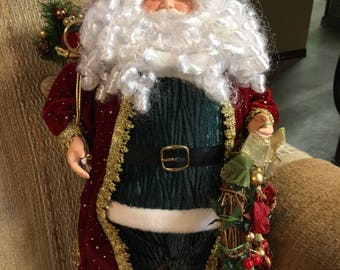 """18"""" Traditional red and green santa"""