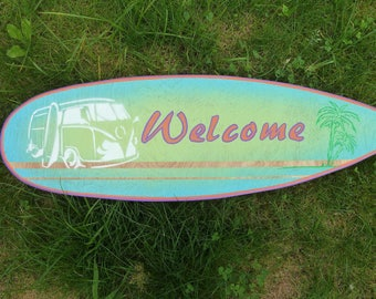 Welcome - Decorative surfboard