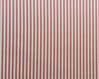 Japanese Sevenberry fabric - Cotton - pink stripes - by 50 cm (110 x)