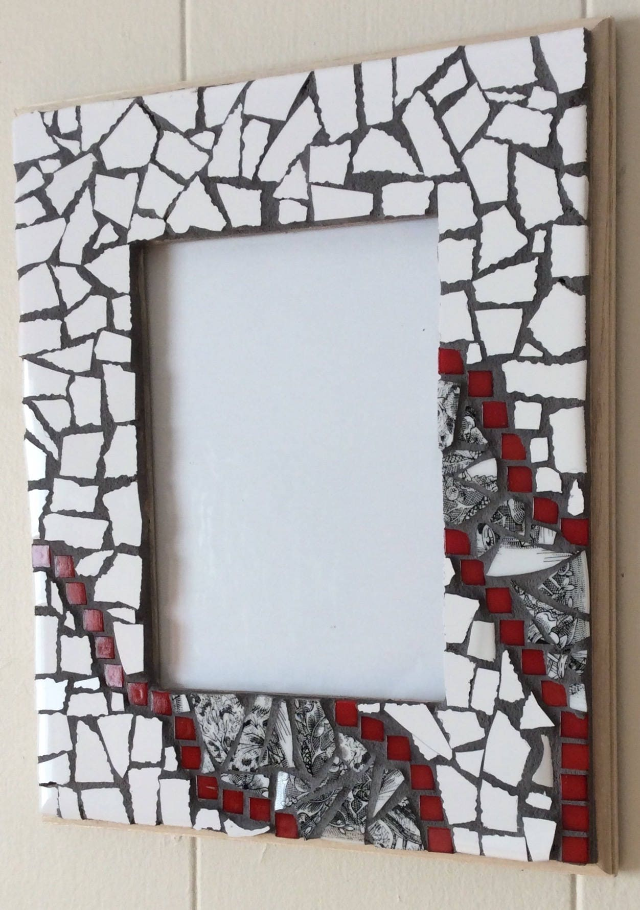 Picture frame 9 x 11 mosaic original unique ceramic for Decoration maison original