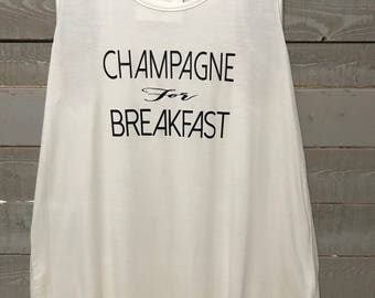 Champagne for Breakfast - Ladies Tank