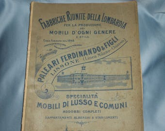 Old furniture book ! Italian furniture catalogue ! 1800s
