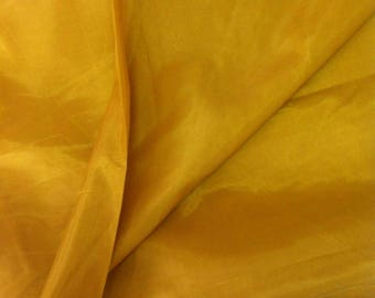 Yellow Indian Dupioni Silk Fabric By The Yard - India Dupioni, Silk fabric by the yard, Indian fabric, indian Silk, Fabric By the yard