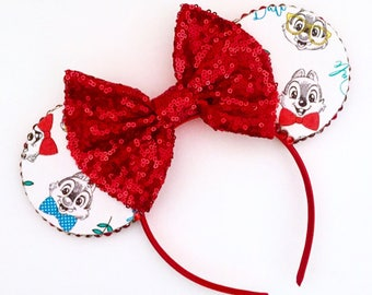 The Chipmunks - Handmade Mouse Ears Headband