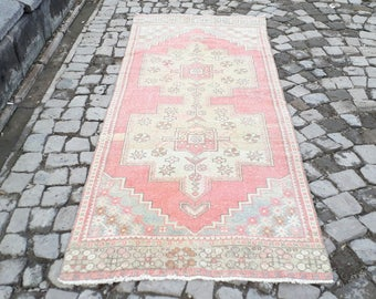Runner rug Oushak Rug  Muted Color Rug  98 x 37 inches  Cappadocia Rug  Runner Rug Turkish Rug Turkish Runner Rugs