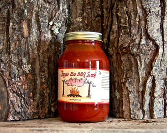 CHIGGER Hill Hot BBQ SAUCE  (Quart)
