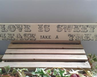 Wedding decorative wooden sign. Ideal to decorate a sweet buffet table or candy cart. Uk seller.
