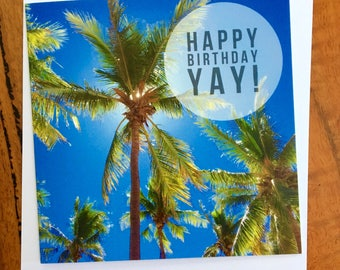 Palm Trees Birthday Card, Palms Birthday Card, Dampier Palms Birthday Card, Pilbara Photography Card, Tropical Birthday Card, Pilbara Card
