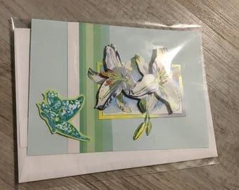 """Card 3D """"white lilac."""