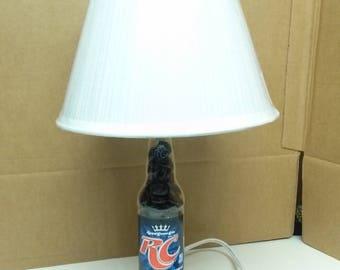 Handmade Royal Crown Cola Soda Bottle lamp