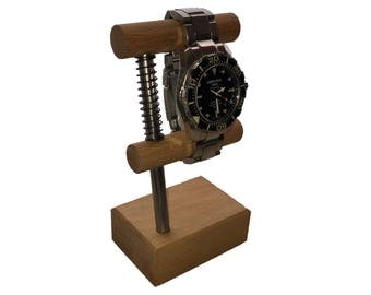 Watch holder made of beech wood