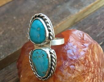 Turquoise stone ring 6 1/2 size