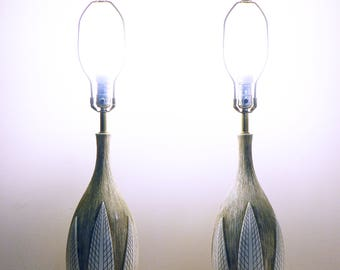 mid century lamps modern ATOMIC FEATHERS chalkware hollywood regency boudoir lamps