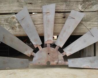 Half Windmill, Metal Half Windmill, Rustic Half Windmill, Windmill Blades, Vintage Windmill, Farmhouse Windmill, Metal Windmill Wall Decor,