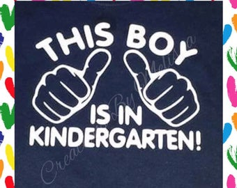 Boys Kindergarten Shirt/ Back to School Shirt/ Boys School Shirt/ Boys Back to school shirt