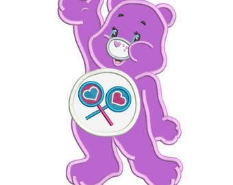 Share Bear Care Bears Applique Design 3 sizes instant download