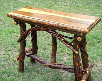 rustic sofa table rustic console table