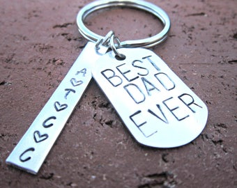 Best Dad Ever, Dad Keychain, Fathers Day Keychain, Personalized Dad Keychain, New Dad Gift, Fathers Day Gift, Dad Gifts, Gifts For Dad