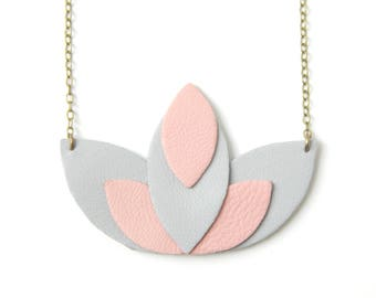 Pia pink and gray necklace