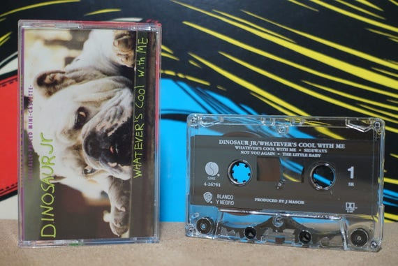 Whatever's Cool With Me by Dinosaur Jr Vintage Cassette Tape