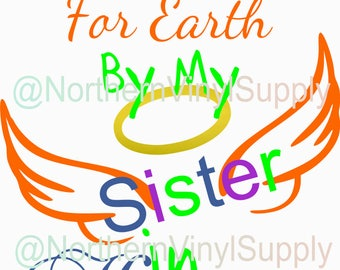 Rainbow Baby - Rainbow SVG - Handpicked For Earth By My Big Sister In Heaven - SVG Cut File - Baby Cutting File - SVG Cutting File