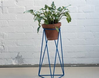 High Tri Plant Stand in Berlin Blue