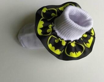 Batman ruffle socks, infant ruffle socks, character socks, super hero socks, baby socks, birthday socks, Marvel socks