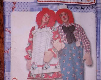 ADULT COSTUME PATTERN Raggedy Ann and Andy Pattern Simplicity 9370 Bilingual Sewing Pattern Fairytale Costume Wig Pattern Halloween Pattern