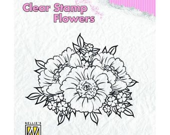 Stamp clear transparent scrapbooking NELLIE's CHOICE flower 366
