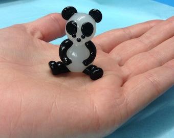 Panda glass figurine