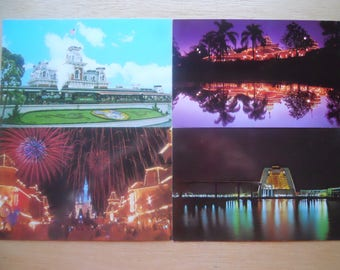 lot 18 vintage Disney World postcards 1970s Magic Kingdom, Mickey Mouse, etc.